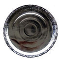 Round Plain Silver Paper Plate Raw Material 180gsm, Packaging Type: Packet