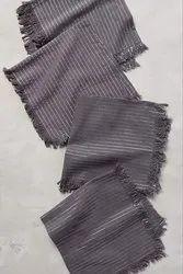 Grey Striped Cotton Napkin