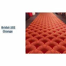 Rectangular Designer Red & Orange Printed Carpet, For Wedding, Exhibition