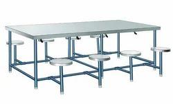 Stainless Steel 8 Seat Dinning Table, Shape: Rectangular