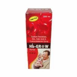 Sodium Feredetate,Zinc,Folic Acid & Cyanocobalamin Syrup