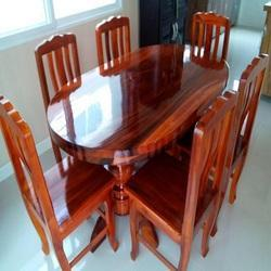 Modern 3 4 Feet Oval Shaped Dining Table Rs 8500 Set Sf