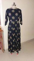 Crepe Casual Wear Ladies Kurti, Wash Care: Machine wash