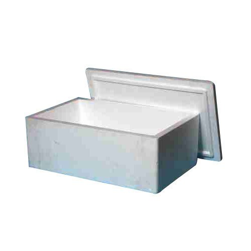 White Rectangular Thermocol Packaging Box, Thickness: 15-30 Mm