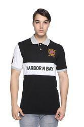 851d284753cb Harbor N Bay Black Designer Polo Collar T-Shirt For Men, Rs 250 ...
