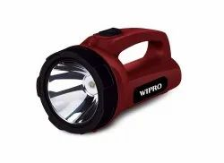 Plastic UL Wipro Emerald 5w LED Torch, Battery Type: Lithium Ion, Warranty: 6 Months
