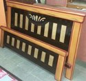 Modern Multicolor Wooden Single Bed