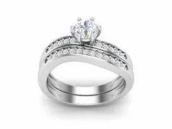 925 Sterling Silver Vintage Engagement Ring