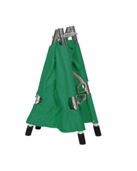 ROYALE pvc coated polyster sheet green Foldable Stretcher, Size: open220x55x15cmclose110x18x12cm