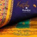 Printed Party Wear Kartika Cotton Sarees, 6 M (with Blouse Piece)