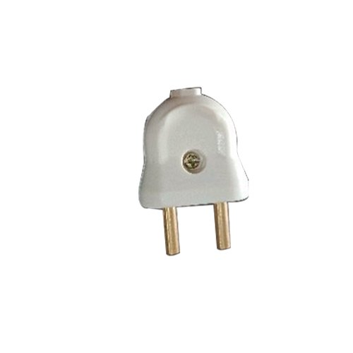 Plastic 2 Amp 2 Pin Plug Top for Electric Fittings