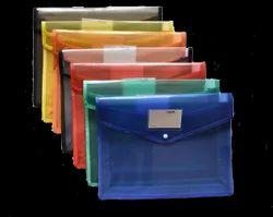 Classik Plastic Button File Folder Transparent Cross line Design Document Bag 0.50_621
