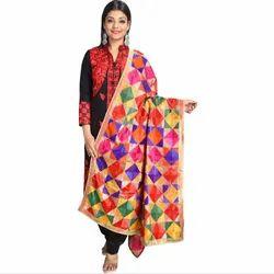 SWI Stylish Rectangular Ladies Phulkari Dupatta