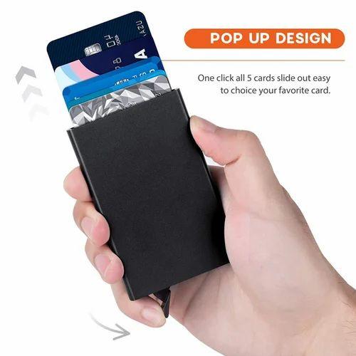 ef8ac47c56a0 RFID Blocking Metal 6 Slots Stainless Steel Aluminum Credit Card Holder  wallet case for Men a