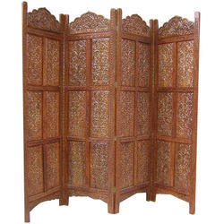 Brown Wooden Partition Screen