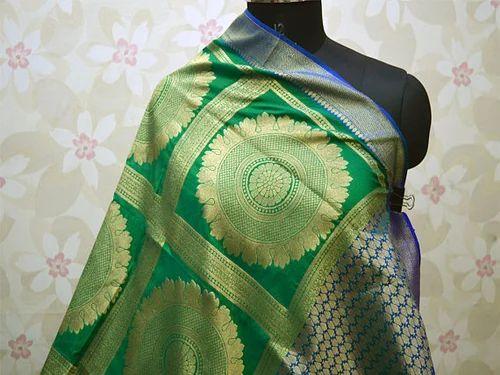 Banarasi Dupatta Long Wedding Silk Scarf  Indian Brocade Scarf Women stole Christmas Gifts ethnic bohemian scarf Evening Scarves