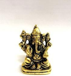 Gold Plated Car DashBoard Ganesha