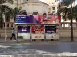 Backlit ( Light Board) Iron Bus Shelter Advertising Services, Mode Of Advertisement: Outdoor, 265 Sqft
