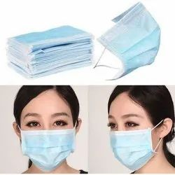 White PP Non-Woven Disposable Face Mask, For Surgical, 2