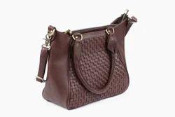 Ladies Leather Handbag Tote Bag Hobo Bag, Pure(Y/N): Yes
