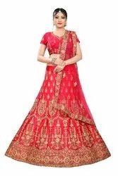 Aastha Semi-Stitched Embroidered Bridal Lehenga Choli, Net, 4