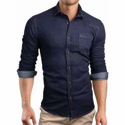 Regular Medium And Large Denim Cotton Shirt