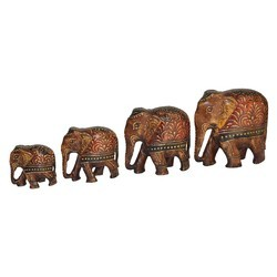 Wooden Emboss Elephant Set