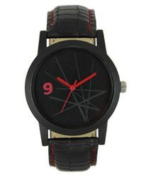Black Men Wrist Leather Watch, NM008