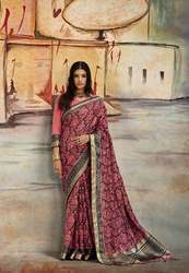 PR Fashion New Nylon Silk Saree