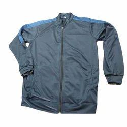 Mens Lycra Zipper Blue Jacket, Size: S-XL