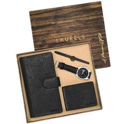 Premium Gift Set Of Pen, Card Holder, Watch, Wallet, Card Holder, Watch, Clutch, Travel Wallet
