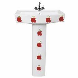 813 Pedestal Vitrosa Wash Basin
