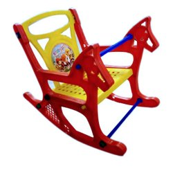 Red Plastic Baby Rocking Chair, For Home, Back Style: Tight Back