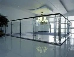 Stainless Steel Bar Glass Railing, For Hotel, Material Grade: Ss 304