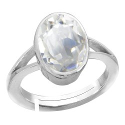 Zircon Rings  Men and Women Silver Gemstone