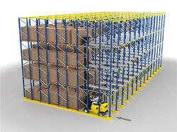 Iron Drive in Racking System, Capacity: 500 kg/layer