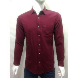 Men Pure Cotton Full Sleeves Shirt, Size: S-XXL
