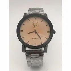 In Stylus Round Mens Quartz Wrist Watch