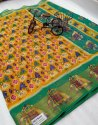 Pure Soft Cotton Saree With Nice Pochampally Print Saree