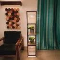 Decorative Modern Antilia Wood And Metal Floor Lamp For Home, Hotel Or Office