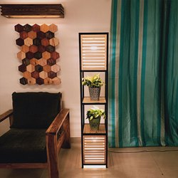 Antilia Wood and Metal Floor Lamp