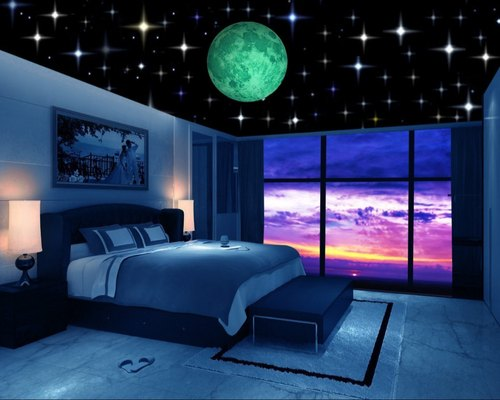 Stars Stickers For Kid/'s Luminous Wall Stickers Musical Note Glow In The Dark