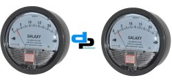 Galaxy Model G 2000-250 MM Magnehelic Gauges Ranges 0-250 MM wc