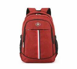 Polyester Red Shoulder Backpack