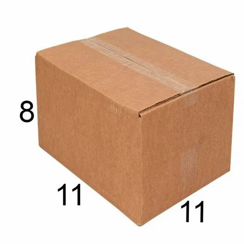Rectangle 11 x 11 x 8 inch Packaging Corrugated Box