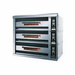3 Phase Three Deck Oven 9 TRAYS, Oven Type: Electrical