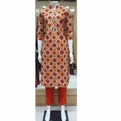 SVF Party Wear Ladies Cotton Kurti, Handwash, Size: Medium