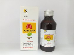 Cough Syrup in Herbal With Tulsi & Honey, Packaging Type: Bottle