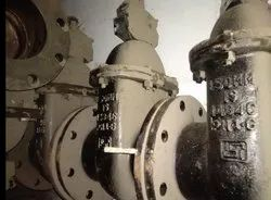 Ci Sluice valves flanged