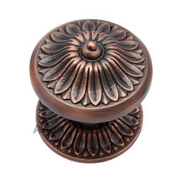 Manoah Brass Door Knob with Rose